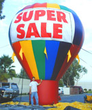 Inflatable Advertising Balloons With Banners