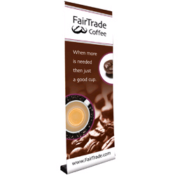 Retractable Banner Stand Kit One Sided