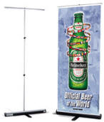 Custom Retractable Banner Stand Kits Complete kit includes retractable banner stand, custom printed banner and case.
